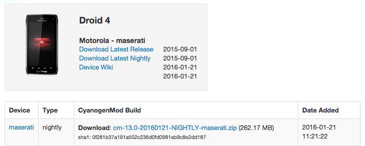 Official CM 13 For Motorola RAZR, Droid 4, Bionic and Droid RAZR androidsage