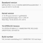 Download Project Highway YU Open OS Beta Nightly Builds Android 6.0.1 Marshmallow