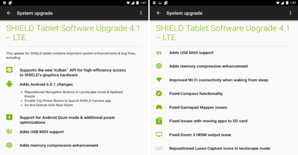 Install NVIDIA Shield Tablet Marshmallow Update 4 1 With Vulkan API