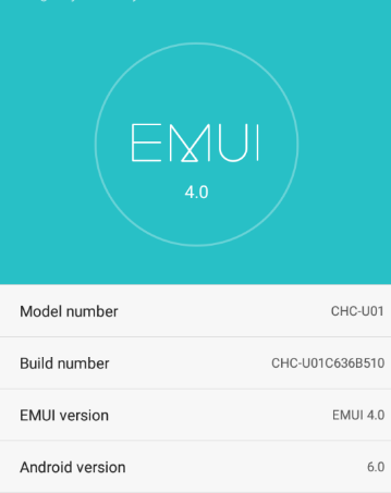 Download EMUI 4.0 Huawei G Play Mini CHC-U01C636B510 Marshmallow Firmware Asia pacific