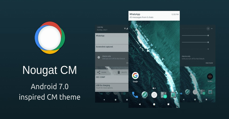 Download Android 7.0 Nougat Theme For CM 12.1 And CM 13