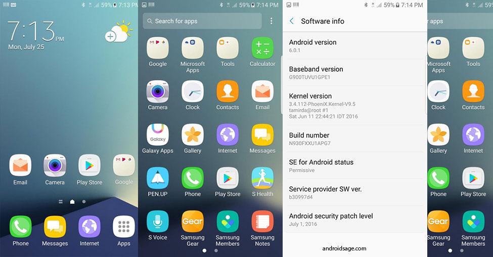 Install Galaxy Note 7 ROM Port on Samsung Galaxy S5 SM-G900F/K/M/W8