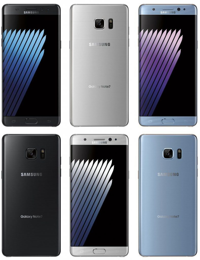 galaxy note 7 press render