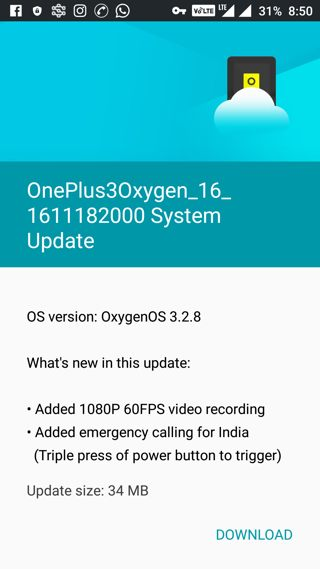 Download OnePlus 3 Oxygen OS 3.2.8 Official OTA and Full ROM Update