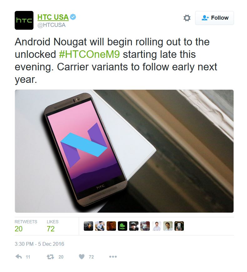 Download HTC One M9 Android 7 0 Nougat OTA and stock RUU firmware