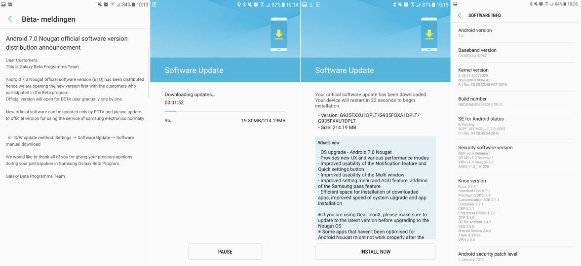 Download Rom Android 7.0 Nougat Galaxy S7 Edge G930FXXU1ZPLN Official