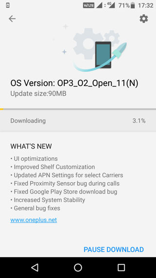 Download and install open beta 11 for OnePlus 3 and OnePlus 3T
