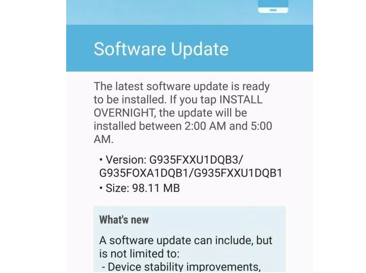 Download Android 7.0 Nougat Update for Galaxy S7 new Release G935FXXU1DQB3