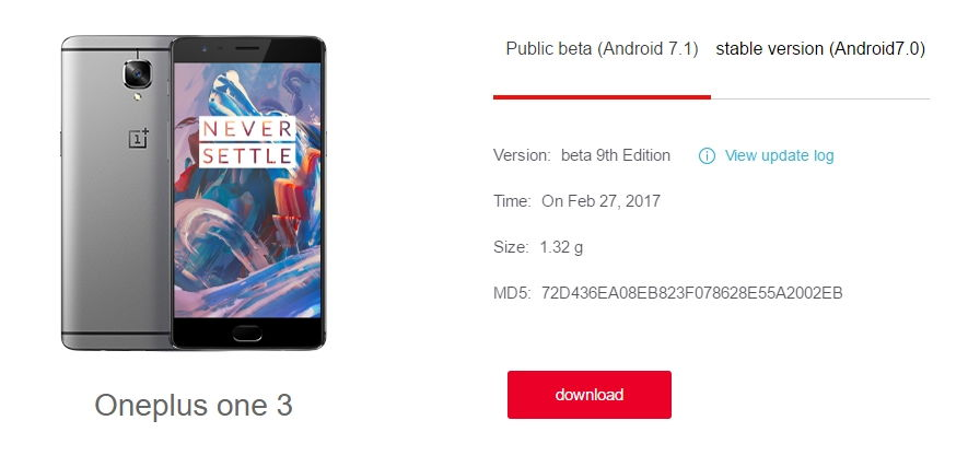 H2OS for OnePlus 3 - Open Beta 12 based on Android 7.1.1 Nougat upcoming