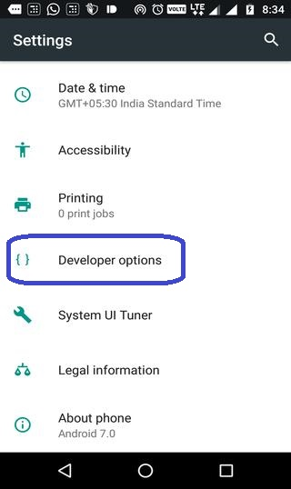 How to Enable USB debuggin from developer options