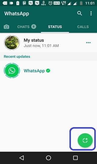 how to use WhatsApp status