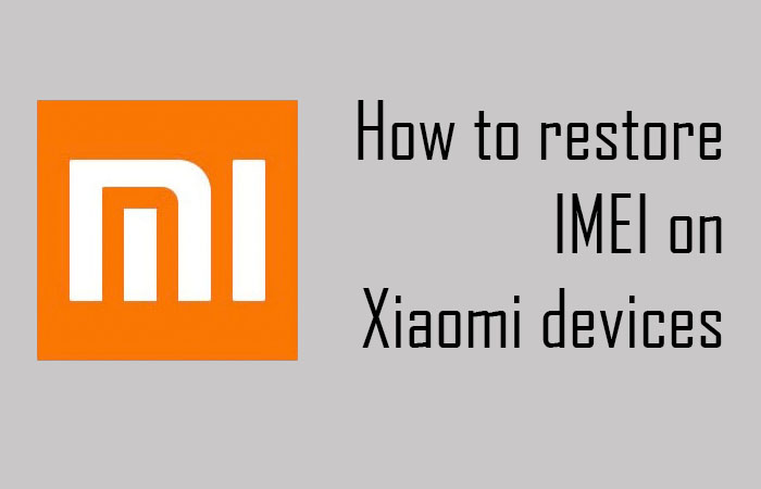How to restore IMEI on Xiaomi devices