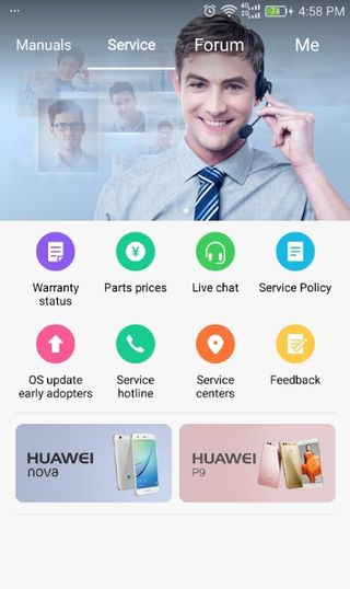 download hicare app and upgrade huawei to Nougat