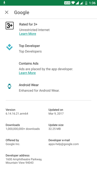 Download Google App 6.14.16 beta APK