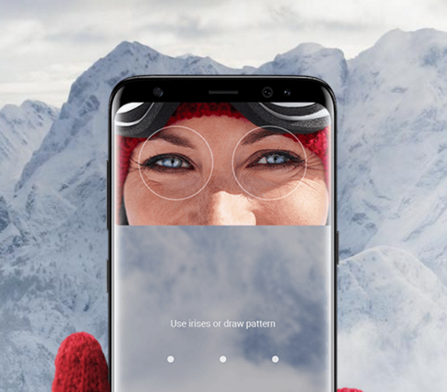 Samsung Galaxy S8 and S8+ iris recognition