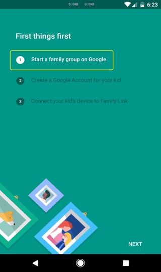 Start a family group