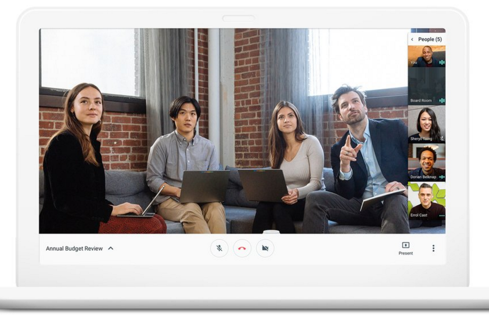 hangouts Meet video interface