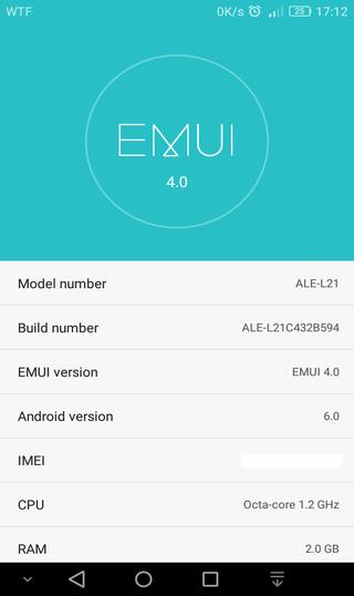 march 1 security patch for Huawei p8 lite