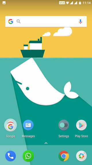 oneplus launcher 2.0 home screen ui