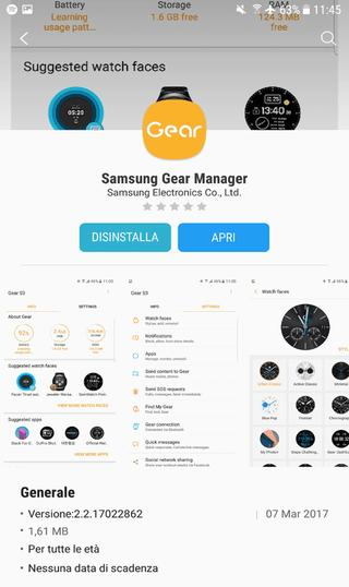 samsung galaxy S8 gear app