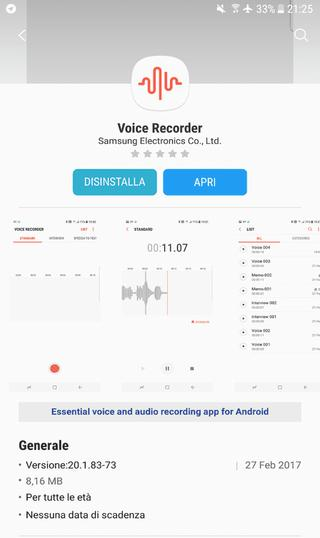 voice recorder galaxy s8