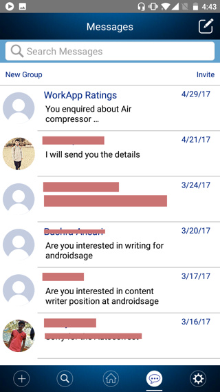 Directly contact employers using Workapp