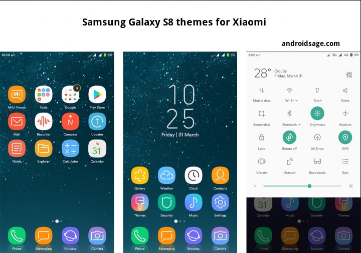 4 awesome Samsung Galaxy S8 (Plus) themes for Xiaomi on