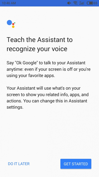 Google Assistant on Android Lollipop KitKat
