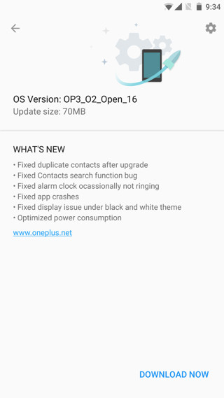 OnePlus 3 OxygenOS Open Beta 16 OTA update downloads