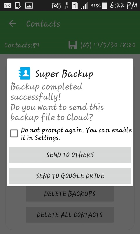 How to backup and restore contacts using Super Backup