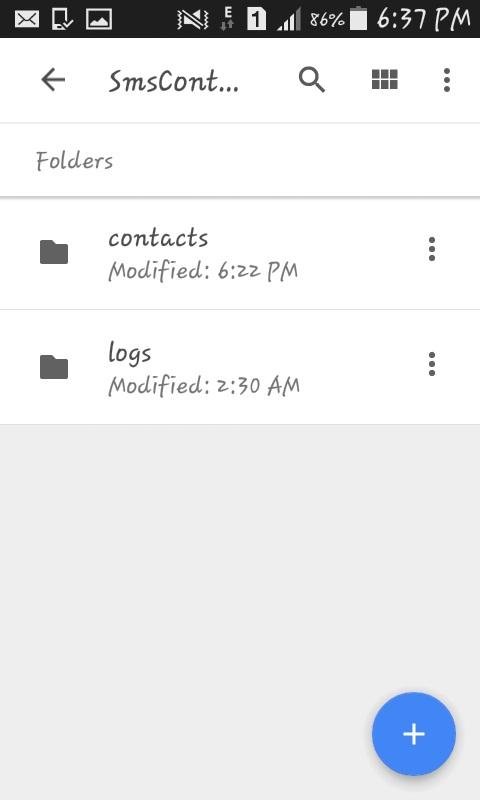 google drive folder Contacts