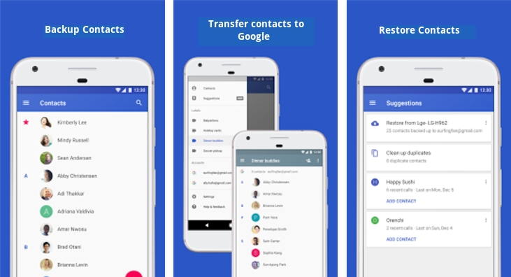 Keep your phone contacts safe - Backup, restore, and transfer contacts to Google