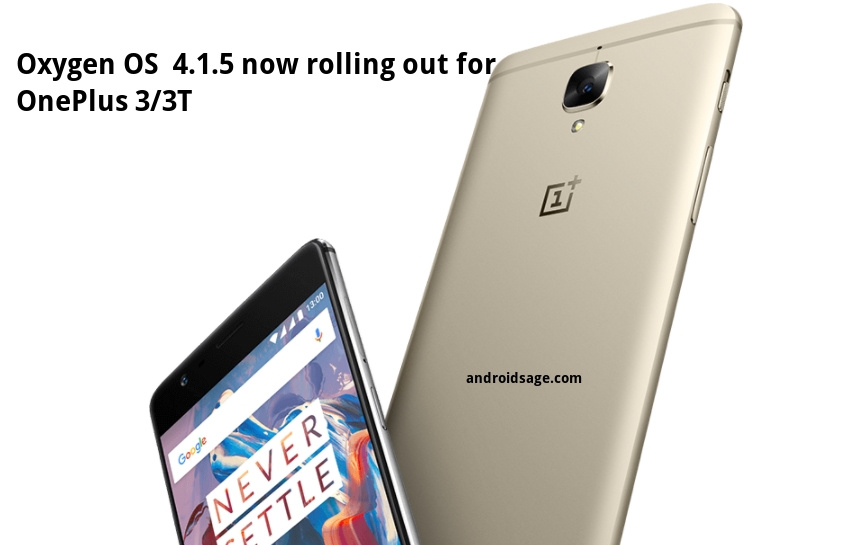 download and install Oxygen OS 4.1.5 OTA update for OnePlus 3-3T