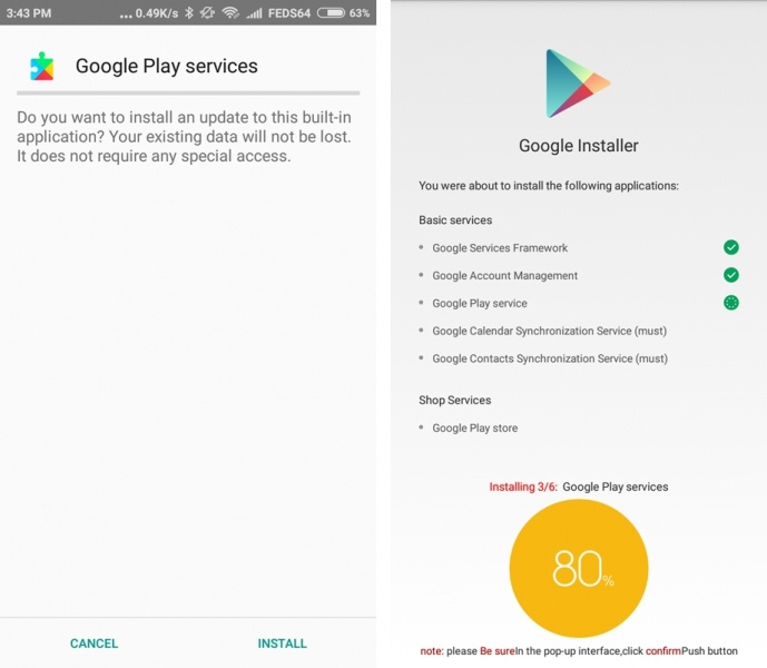 Google installer for MIUI 9 and MIUI 8 Nougat how to install