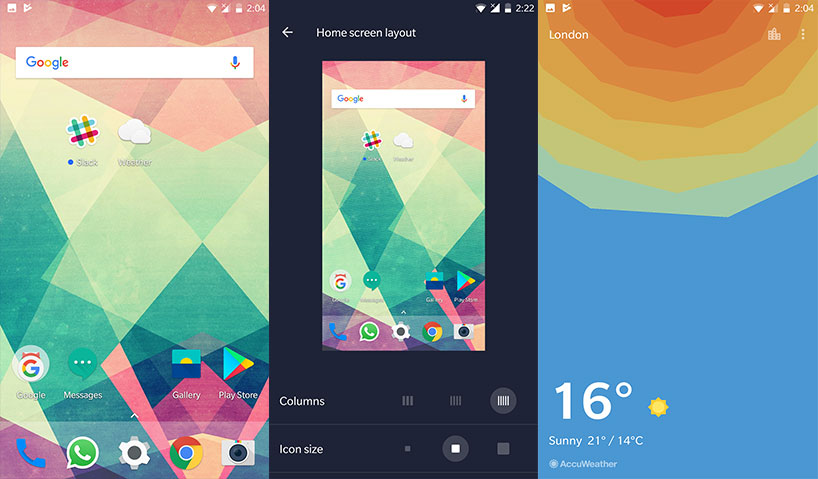 Download OnePlus Launcher 2 1 and Weather App V1 7 0 from Play Store