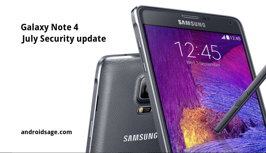 how to get security updates for note 4