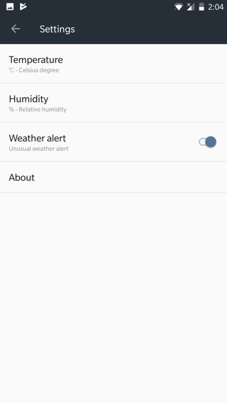 oneplus Weather app v1.7.0 Screensho
