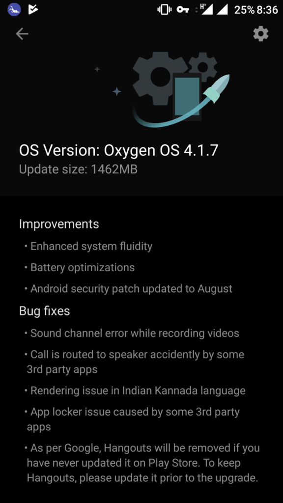 Oxygen OS 4.1.7 for OnePlus 3 Screenshot