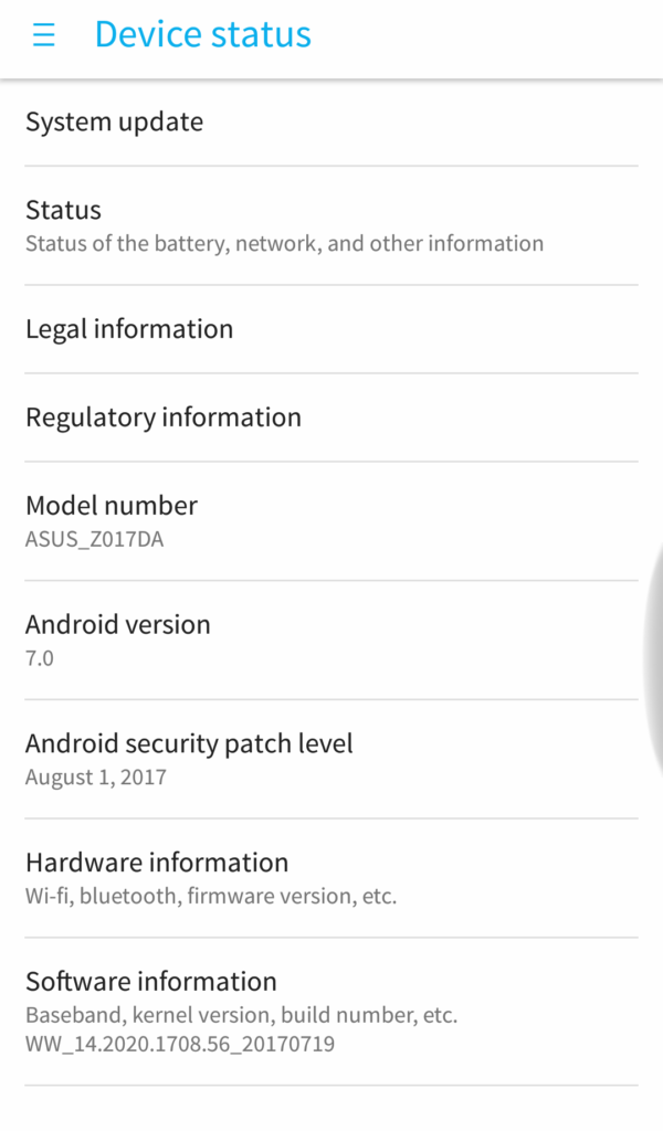 August Security Update for Asus Zenfone 3