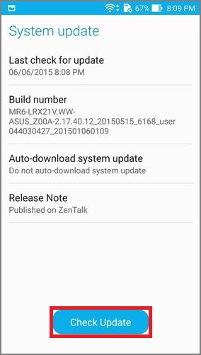 Security update for Asus Zenfone 3