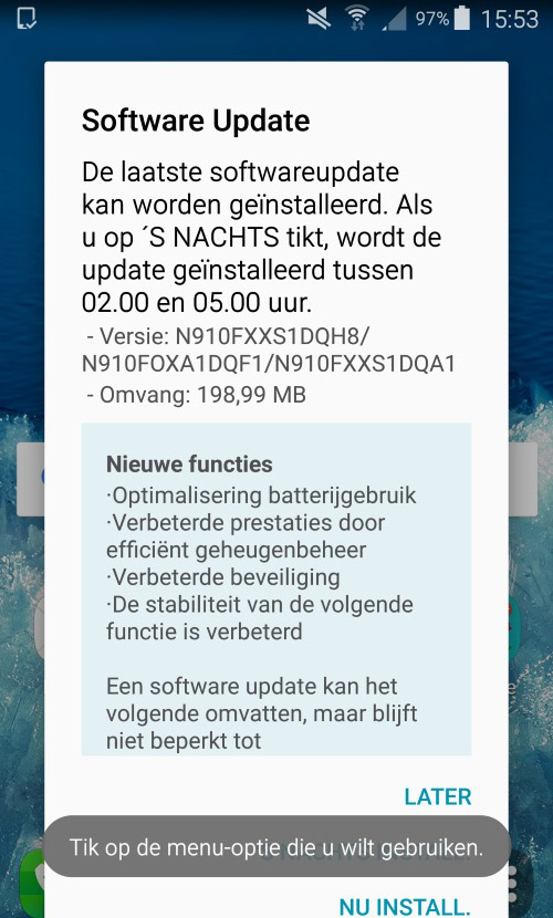 August 2017 security update for Galaxy Note 4