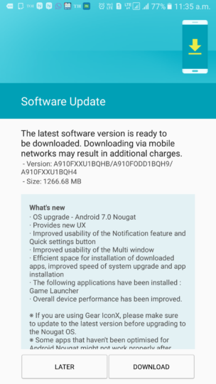 Samsung Galaxy A9 (Pro) Receives the Android 7 0 Nougat