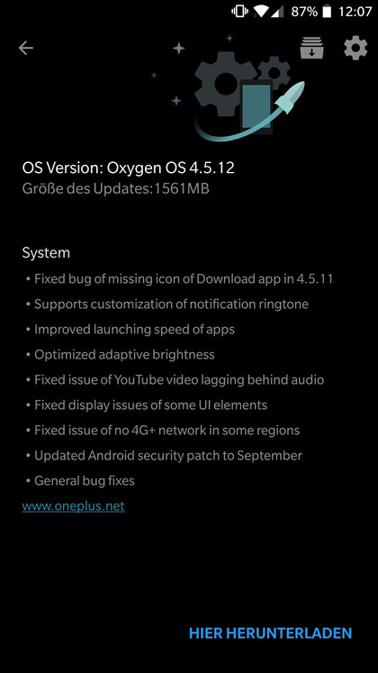 Download Oxygen OS 4.5.11 OTA update zip