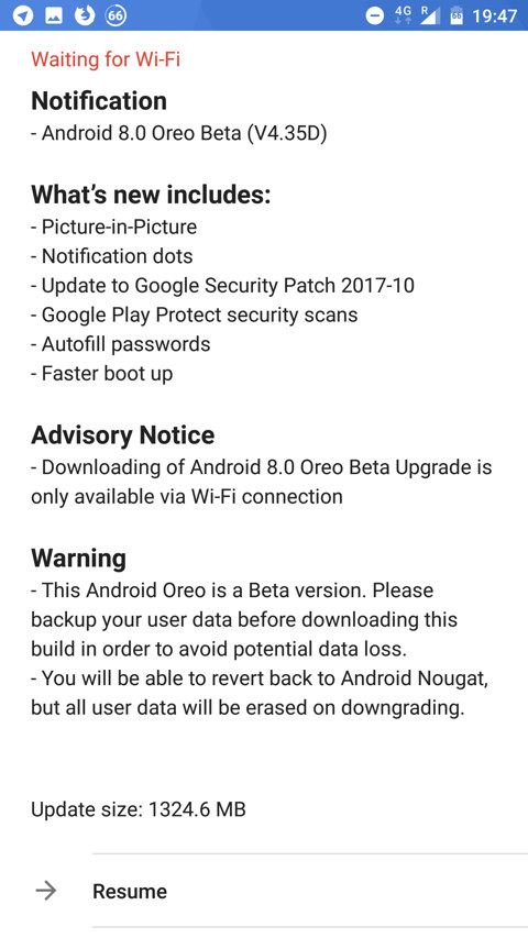 Nokia 8 Android 8.0 Oreo Beta update