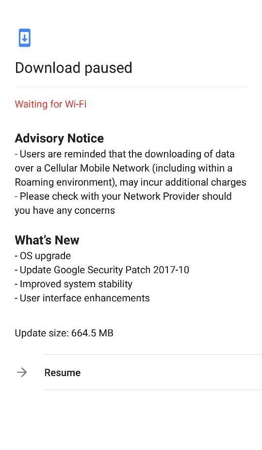 Android 7.1.2 Nougat update for Nokia 6