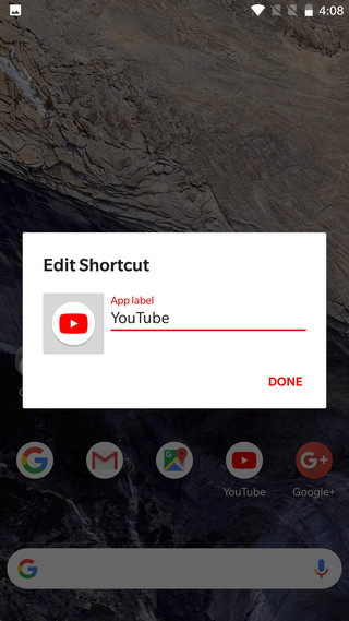 Remove name from icons pixel 2 like