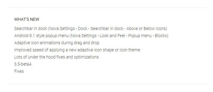 Nova Launcher 5.5 Beta 3
