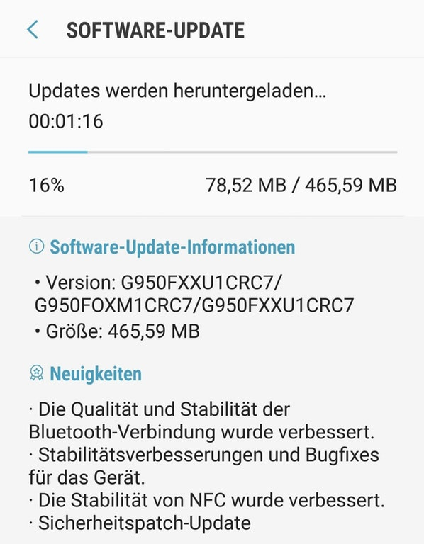 Downloading Galaxy S8 (Plus) March 2018 Security Patch G950FXXU1CRC7 G955FXXU1CRC7