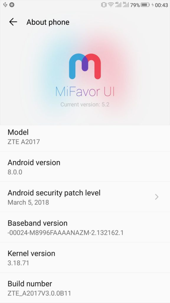 ZTE Azon 7 receives official Android 8 0 Oreo MiFavor 5 2