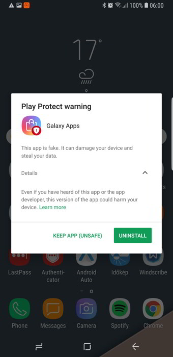 Google Play Protect Flagging Samsung Galaxy App Store as Dangerous and Fake